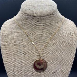 Lauren Conrad Gold Circle Pendant Necklace